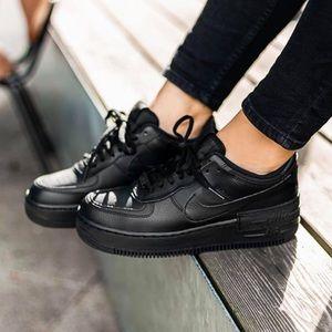 🌸 NIKE Air Force 1 Shadow Sneakers Shoes Black